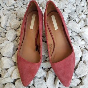 H&M Pink Suede Heels size 6
